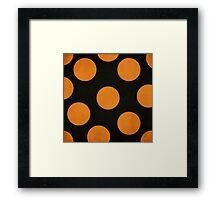 Halloween Dots Framed Print