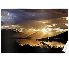 Lake Te Anau at sunset. South Island, New Zealand. (7) Poster