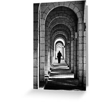 in tunnel Greeting Card