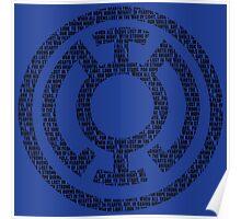Blue Lantern Oath (Black) Poster