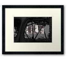 Rear Window View Framed Print