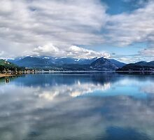 Reflections on the Columbia River  by Don Siebel
