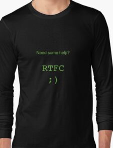 RTFC (Read The F*#%&$@ Code) - Software Engineering done right! Long Sleeve T-Shirt