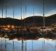 Early evening at the marina by Tash  Luedi Art