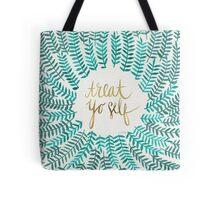 Treat Yo Self – Turquoise Tote Bag