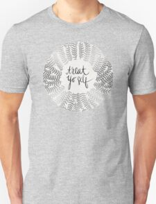 Treat Yo Self – Silver Unisex T-Shirt