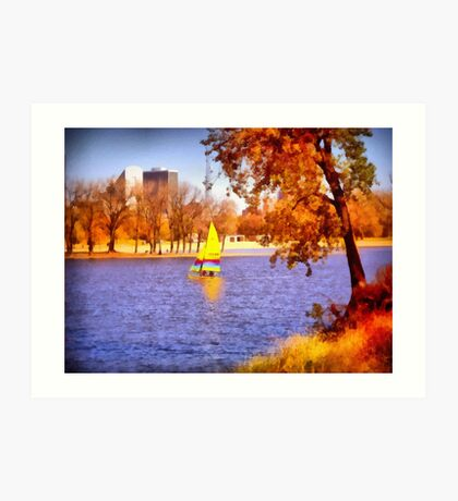 Autumn Sail Art Print