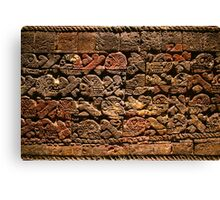 Mayan pictograph at the Anthropological Museum in Mexico City  Canvas Print