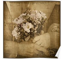Golden wedding posy Poster