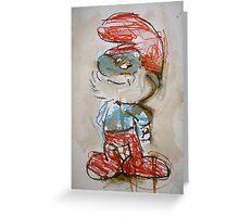 Nostalgia - Papa Smurf Greeting Card