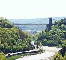 The Clifton Suspension Bridge by Dawn B Davies-McIninch