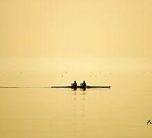 rowing at dusk by Fran E.