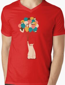 Penguin Bouquet Mens V-Neck T-Shirt