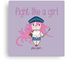 Fight Like a Girl - She Fighter Canvas Print