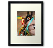 Colourful Chains Framed Print