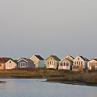 Beach huts by Jennifer Bradford