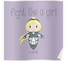 Fight Like a Girl - Nova | Starcraft | Heroes of the Storm Poster