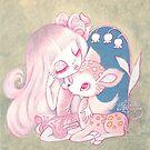 Pink Fawn Heaven by TenshiNoYume