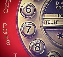 Red Vintage Telephone by Gitte Morten