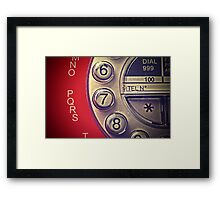 Red Vintage Telephone Framed Print