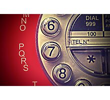 Red Vintage Telephone Photographic Print