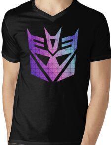 Decepticon Mosaic Mens V-Neck T-Shirt
