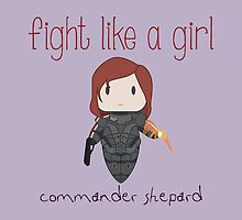 Fight Like a Girl - The Commander by isasaldanha