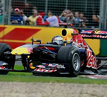 Sebastian Vettel. Red Bull #1. 2011 Australian Grand Prix by Dean Perkins