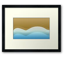 Tidal Background Logo Framed Print
