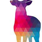 Modern Geometric Colorful Reindeer by artonwear