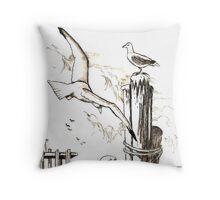 Seagulls Throw Pillow