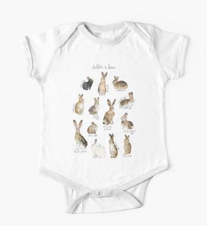 Rabbits & Hares One Piece - Short Sleeve