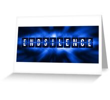 End the Silence - Blue Greeting Card