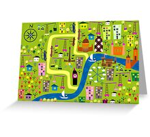 The city is growing Greeting Card