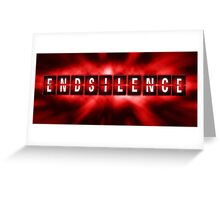End the Silence - Red Greeting Card