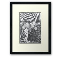 Nude Male Croquis Drawing 02 Framed Print