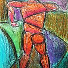 Abstract Croquis of a Nude Male 09 by Digital Editor .