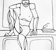 Abstract Croquis of a Nude Male 14 by Nasko .