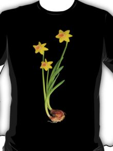 Daffodil on black T-Shirt