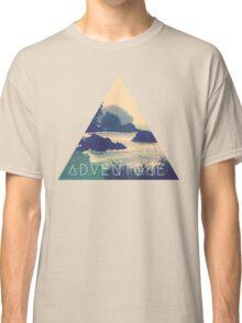 Wanderlust Beach Boho Typography Adventure Print Classic T-Shirt