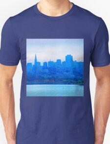 Blue Fuzz Skyline Unisex T-Shirt