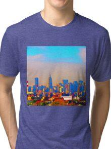 Fuzzed Up Skyline Tri-blend T-Shirt