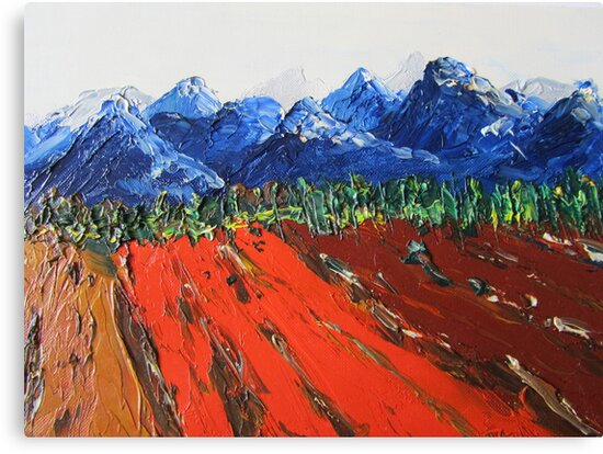 Snowcovered mountains by Dorothy ROWNTREE