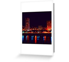 Night Skyline Greeting Card