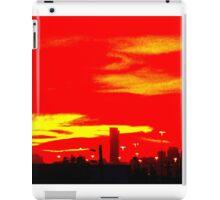 Red Skyline iPad Case/Skin