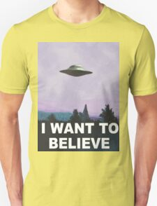 I want to believe (purple) T-Shirt