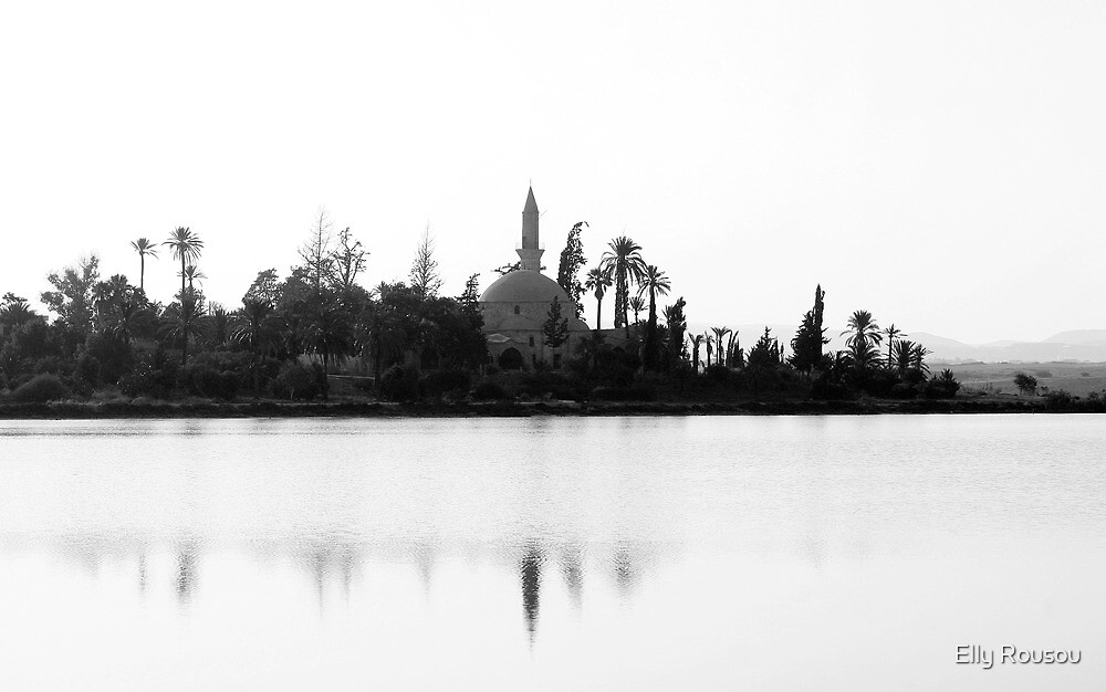 Hala Sultan Tekke on Larnaca's Salt Lake by Elly Rousou