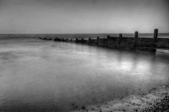 High Tide Groyne by John Hare