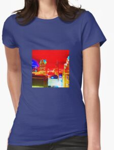 Industrial Neon Womens Fitted T-Shirt