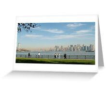 View from Liberty Island Greeting Card